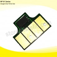 Chip For Hp Inkjet Hp-91 Yellow